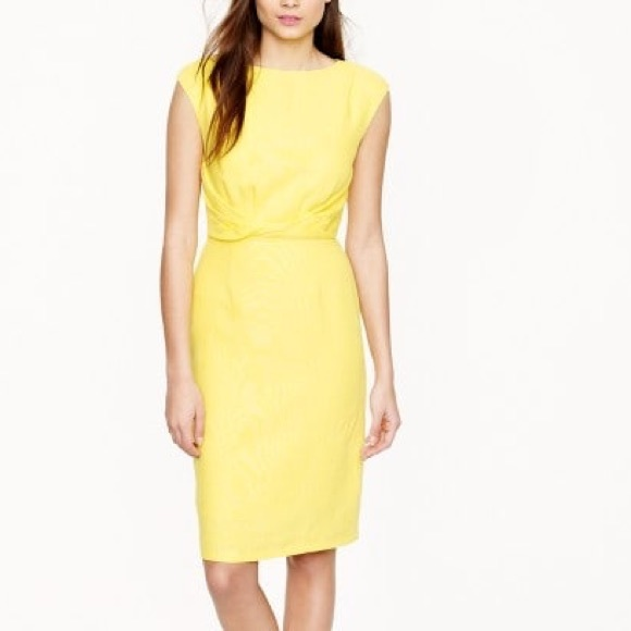 301963239b9 J. Crew Yellow Linen Midi Dress - NWT!